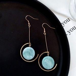 🆕️ Green marble hook earrings